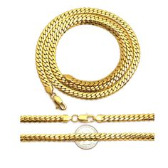 "NEW 7.6mm & 20"", 22"", 24"", 26"", 30"" 14K GOLD PLATED MIAMI CUBAN CHAINS"
