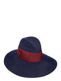 2b507bfa93f Borsalino Velour Lapin Fur Felt Wide Brim Hat on shopstyle.com