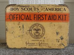 Boy Scout First Aid Kit with contents by VintageInsanity on Etsy