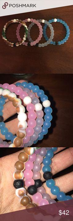 4 Lokai bracelets they're all size M Lokai Jewelry Bracelets
