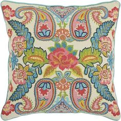 Bright, boho and elegant all at once, our paisley pillow is a welcome addition to any space. Toss it on the sofa to add instant intrigue to your living room, or pile it on your bed to make your sleep space more comfortable and colorful.