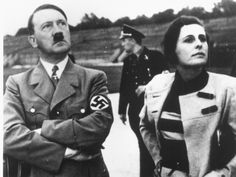 Adolf Hitler and Leni Riefenstahl.