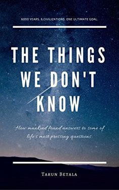 Buy The Things We Don't Know Book Online at Low Prices in India | The Things We Don't Know Reviews & Ratings - Amazon.in