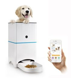 Abdtech SmartFeeder - Automatic Pet Feeder for Dog or Cat - Control with your iPhone, Android or other smart device * You can find out more details at the link of the image.