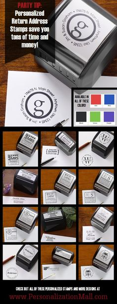 Instead of printing 500+ return address labels for thank yous, invites, save the dates, and replies, get a stamp! This site has the cutest designs and the most affordable - remember thissss