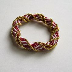 Bead Crochet Bangle Pattern: Stairway to by WearableArtEmporium