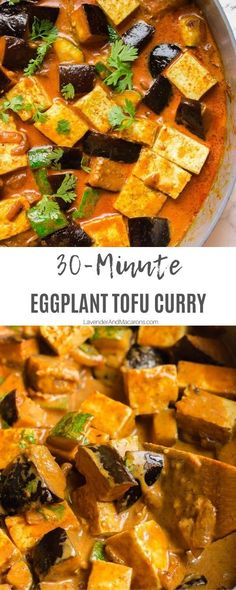 Eggplant Tofu Recipe, Vegan Eggplant Recipes, Eggplant Curry, Eggplant Zucchini, Best Vegan Recipes, Vegan Dinner Recipes, Tofu Recipes, Curry Recipes, Vegetarian Recipes
