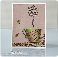 "Handgemachte Grußkarte | handmade card - Create A Smile Stamps ""Coffee First"", Lawn Fawn ""Flutter By"", ""Love You A Latte"", Polychromos, Simon Says Stamp ""Stitched Rectangles"""