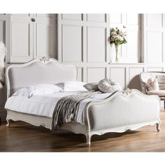 Gallery Parisian House King Chic Upholstered Bed Frame & Reviews | Wayfair UK