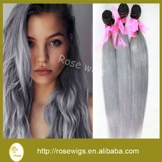 (97.00$)  Buy here - http://aik69.worlditems.win/all/product.php?id=32283427523 - 100% Virgin  Brazilian hair two tone color  silver Hair extension gery color weave hair  3pcs/lot free shipping