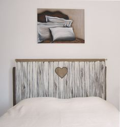 Headboard trompe l'oeil Wooden door reproduction on by FrenchBazar