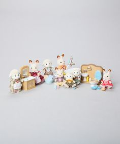 Take a look at this Sylvanian Families - Rabbit & Sheep Family & Bathroom Accessories by Sylvanian Families on #zulily today!