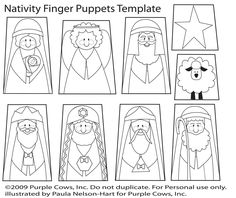 nativity puppet template