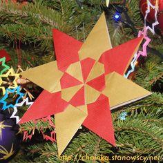 Gwiazdka origami 2 - Zabawki z naszej choinki