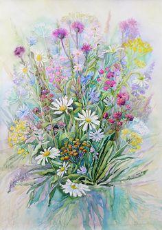 букет цветов акварелью - Поиск в Google