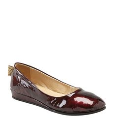 Burgundy patent, of course.