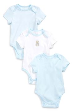 Little Me 'Bear Prince' Bodysuits (3-Pack) (Baby Boys)