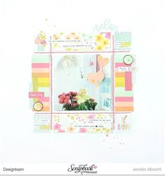 Project no 4 with the new kit by @scrapbookwerkstatt - did a bit of stitching on…