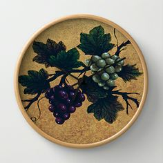 """Tuscan grapes"" Wall Clock by Precision Studio by Theresa Somerset - $30.00"