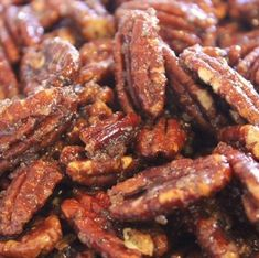 Spiced Pecans - Day 11 of 12 Days of Giveaways (Reloaded) - Candied Pecans Recipe, Spiced Pecans, Candied Nuts, Glazed Pecans, Sugared Pecans, Pecan Recipes, Candy Recipes, Snack Recipes, Cooking Recipes