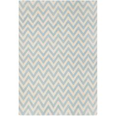 "Safavieh Dhurries Blue/Ivory Outdoor Area Rug Rug Size: Runner 2'6"" x 10'"