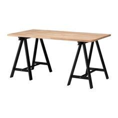 เยร์ทอน / อูดวัลด์ โต๊ะ IKEA ผลิตจากไม้จริง ซึ่งเป็นวัสดุธรรมชาติที่แข็งแรงทนทาน