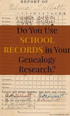 School records are often an overlooked resource used in genealogical research. Yet, the records a community keeps on its students and the records generated by individual students provide a wealth of information on your ancestor's family. Free Genealogy Sites, Genealogy Search, Family Genealogy, Genealogy Chart, Genealogy Forms, Genealogy Humor, Free Genealogy Records, Family Roots, All Family