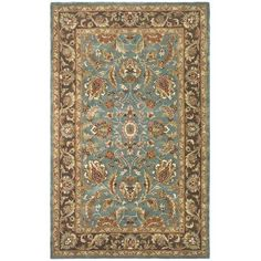 Heritage Blue And Brown Round: 3 Ft. Rug Safavieh Area Rugs Rugs Home Decor