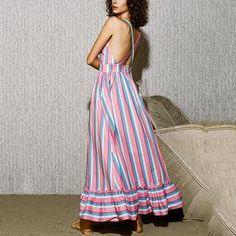 HANMAX Women Bandeau Polka Dot Strappy Sleeveless Holiday Long Wide Leg Jumpsuit Romper Pants