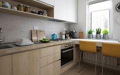 Amenajare bucatarie - Top 100 idei de amenajare bucatarii - Pag. 4 Minimal Kitchen Design, Minimalist Kitchen, Kitchen World, Toddler Rooms, Little Kitchen, Fashion Room, Models, Apartment Design, Home Kitchens