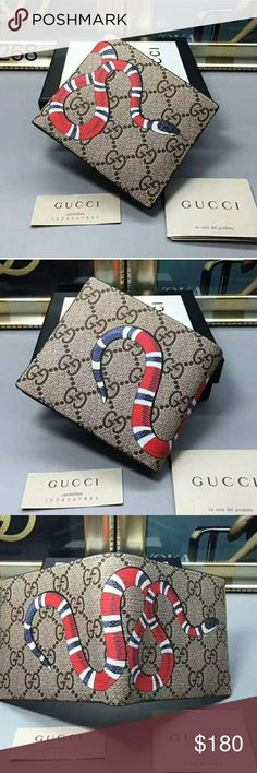 e9e065b5508 Gucci wallet beige kingsnake 100% authentic. Multiple wallets and items  available. Want for