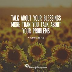 Always remember to talk about your blessings.