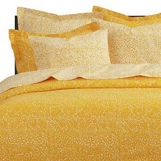 Lovely Crate And Barrel Tamara Yellow Bedding