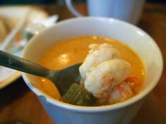 lobster soup iceland food. He calls them lobsters, but Iceland really has langostinos. A smaller crustacean.