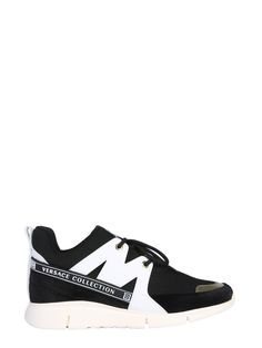 Versace Collection Knitted Lace In Black Versace Sneakers, Versace Shoes, Versace Men, Knit Sneakers, Lace Knitting, Black Laces, Men's Shoes, Mens Fashion, Beagles