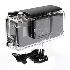 Oumers Housing Diving Case For GoPro Hero5 Black with Extended Battery 2300mah & Bracket. Replacement Waterproof Diving Cover/Protective Case 45M Underwater Photography Shooting, Camera Accessories  Side power bank is easy to install, which can make your gopro camera using time increased than 2 hours or more, eliminating the the troubles of frequent replacement the battery at using  Type-C charging cable, this side power can not only supply power to GoPro Hero5 black motion camera, but...