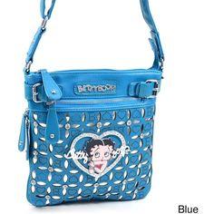 Betty Boop Rhinestone Cut-out Crossbody Bag ($35) ❤ liked on Polyvore featuring bags, handbags, shoulder bags, black, shoulder messenger bag, betty boop purses, crossbody messenger bag, rhinestone purses and crossbody handbags