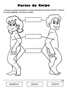 Resultado de imagem para materia de ciencias sobre o corpo humano do 1 ano ensino fundamental