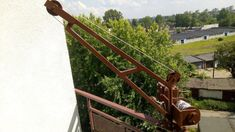 Homemade mini balcony crane / Mini dźwig balkonowy