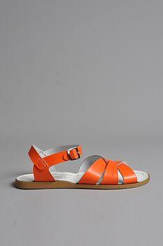 sandal orange salt water