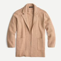 J.Crew: Sophie Open-front Sweater-blazer For Women Crew Clothing, Clothing Items, Popular Outfits, Blazers For Women, Cashmere Sweaters, Knitwear, Plus Size, Clothes For Women, How To Wear