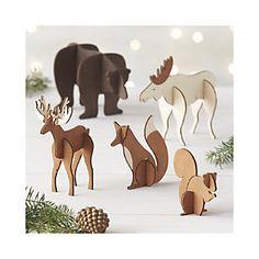 Laser-Cut Wood Animals