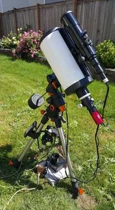 """Telescope setup by Chris George  Hoping for a clear night in seattle. Looking good so far! First light for my TPO 8"""" RC and Atik 460ex osc."""