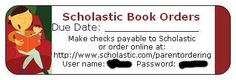 Scholastic Book Orders label-Need to make for my students!