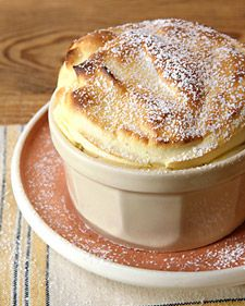 Passion Fruit Souffle with Pina Colada Sauce - Martha Stewart Recipes