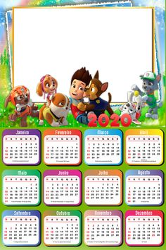 Pow, Photo Frame Design, Paw Patrol Birthday, Kids Calendar, Collage Frames, Art Images, Party, Paw Patrol Decorations, Photo Transfer