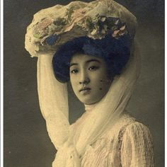 Photo taken in 1906.  The woman in the picture was titled 'The most beautiful woman in Japan', according to some reports.