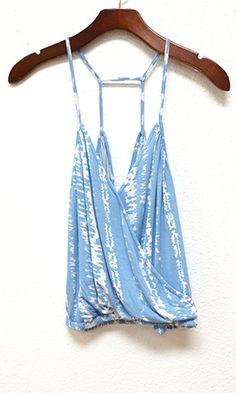 Faux Tuck Camisole, Blue Tie Dye - Conversation Pieces