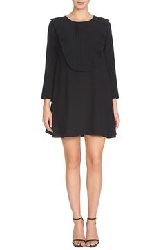 CeCe by Cynthia Steffe 'Delliah' Ruffle Bib Georgette Trapeze Dress available at #Nordstrom