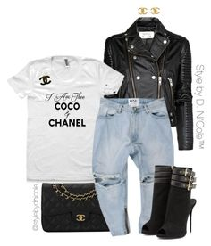 """""""Untitled #3188"""" by stylebydnicole ❤ liked on Polyvore featuring MANGO, Chanel, Giuseppe Zanotti, women's clothing, women, female, woman, misses and juniors"""
